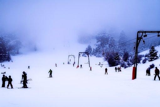 Greece, Ski Slope, Skiing, Ski Lift, Snow, Winter