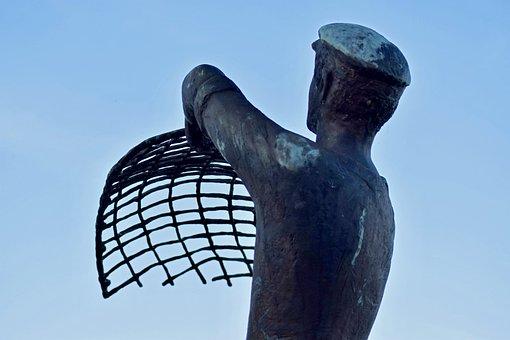 Fischer, Statue, Haffkrug