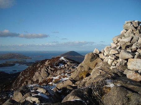Cairn, Hike, Mountain, Adventure, Hiking, Nature