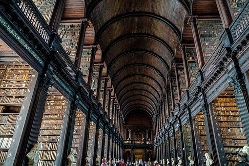 Dublin, Ireland, Trinity, Trinity College, Library