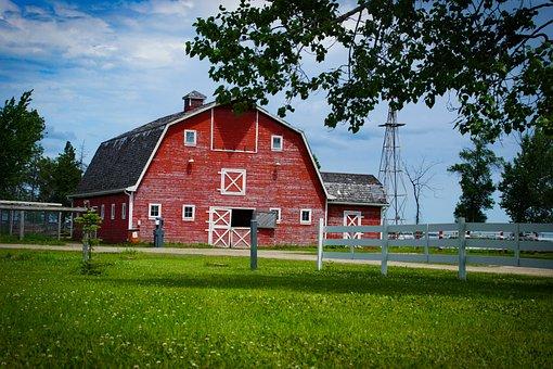 Barn, Farm, Agriculture, Scheuer, Building, Truss, Old