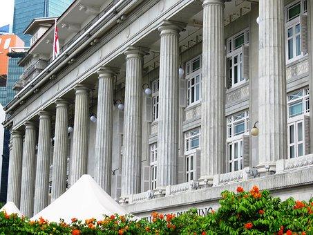 Singapore, Building, City Hall, Raffles Place, City