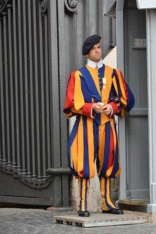 Guard, Vatican, Rome, Italy, Religion, Church, Swiss