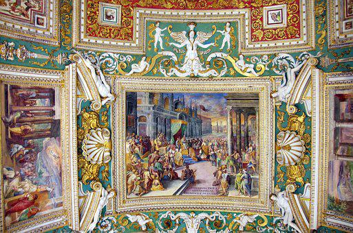 Italy, Rome, Vatican, Vatican Museum, Gallery, Ceiling