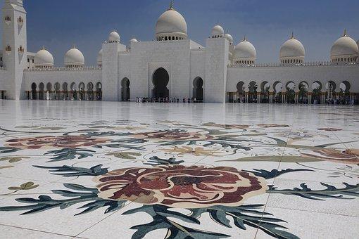 Uae, Mosque, Faith, Sightseeing