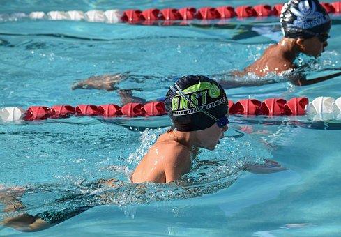 Young Swimmer, Breaststroke, Swim Meet, Swimming