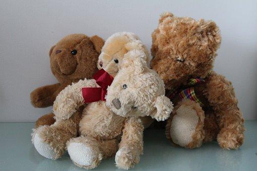 Teddy, Bear, Soft Toy, Cute, Fur, Childhood, Fluffy
