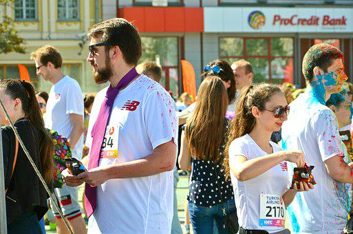 Ukraine, Kiev, Man, Beard, Tie, Paint, Person