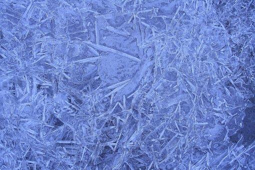 Ice, Eiskristalle, Winter, Blue, Frost, Close