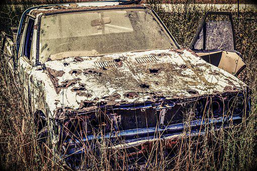 Old Car, Rusty, Vehicle, Abandoned, Broken, Aged