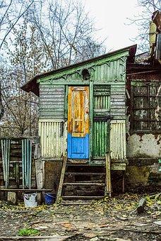 Barn, Seleblitie, Door, Stairs, Bucket