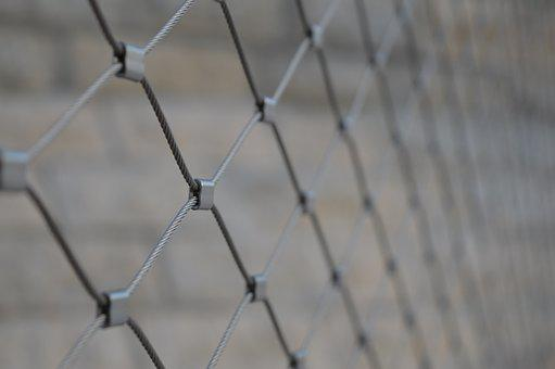 Fence, City, Bridge, Grey, France, Lyon