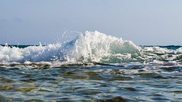 Wave, Spray, Foam, Drops, Water, Liquid, Motion