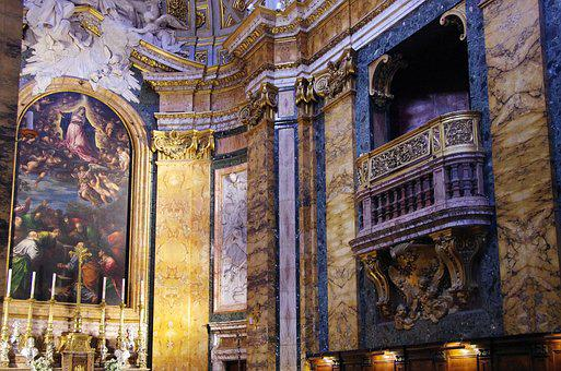 Italy, Rome, Church, St-louis-des-français, Chapel