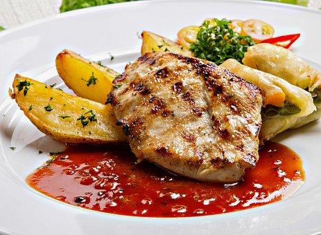 Chicken, Steak, Menu, Food, Lunch, Restaurant, Cooking