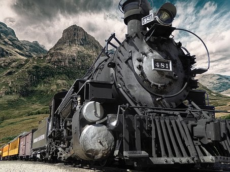 Railway, Steam, Locomotive, Old, Steam Locomotive