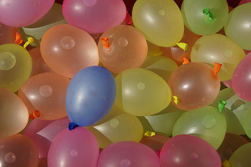 Water Balloons, Depth Charges, Wet, Summer, Fun