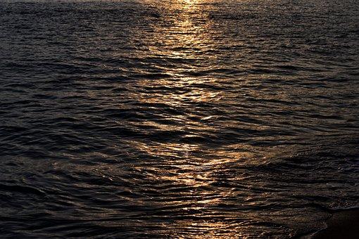 Sea, Sun Rays, Sun, Water, Nature, Light, Ocean, Blue