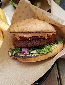 Vegan, Burger, Vegetarian, Vegetable