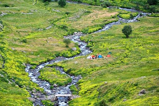 Turkey, Nature, Landscape, Kaçkars, River, Dd, Fish