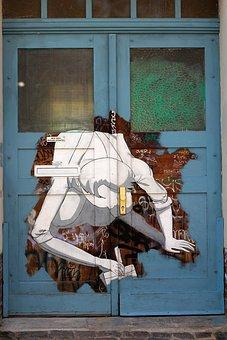 Door, Graffiti, Painting, Art, Building, Input, Goal