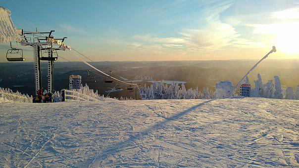 Ice, Ski, Lift, Winter, Cold, Snowboard, Trail, Slope