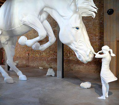 Girl, Horse, Art Installation, Art, Installation