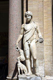 Italy, Rome, Vatican, Museum, Statue, Adonis, Marble