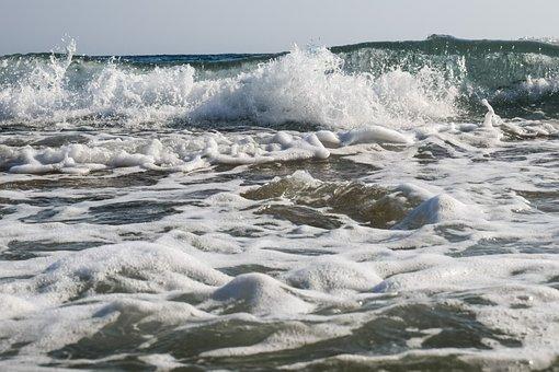 Sea, Wave, Water, Nature, Splash, Foam, Spray, Motion