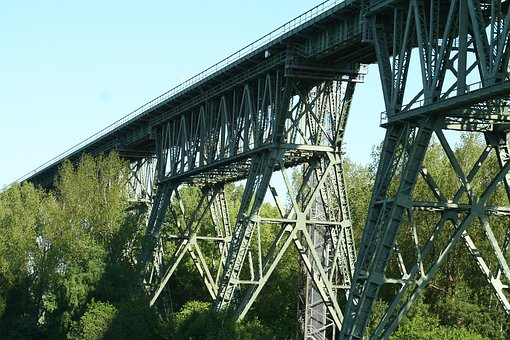 Bridge, Railway, Railway Bridge, Viaduct, Construction