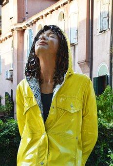 Sculpture, Woman, Rain, Rain Protection, Female