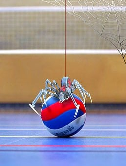 Spider, Volleyball, Network, Sport, Robot, Ball