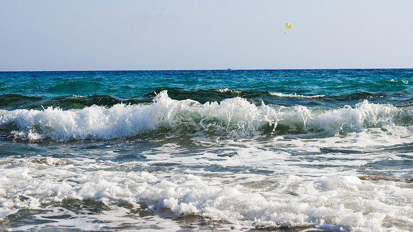 Wave, Spray, Foam, Drops, Bubbles, Water, Liquid