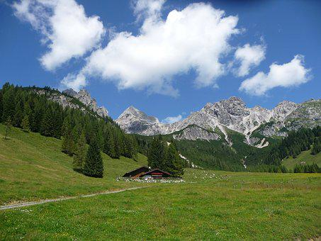Alm, Salzburger Land, Mountain Hut, Alpine Hut, Nature
