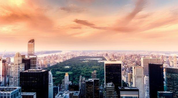 Central Park, New York City, Urban, Buildings