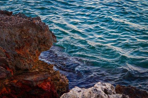 Sea, Rocks, Coast, Reef, View, Waves, Blue Sea