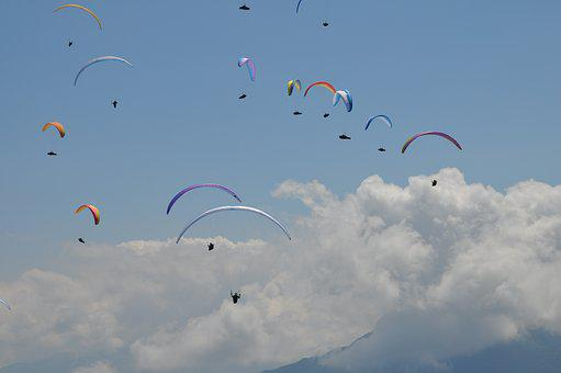 Paragliding, Competition, Sport, Sky, Extreme, Wing