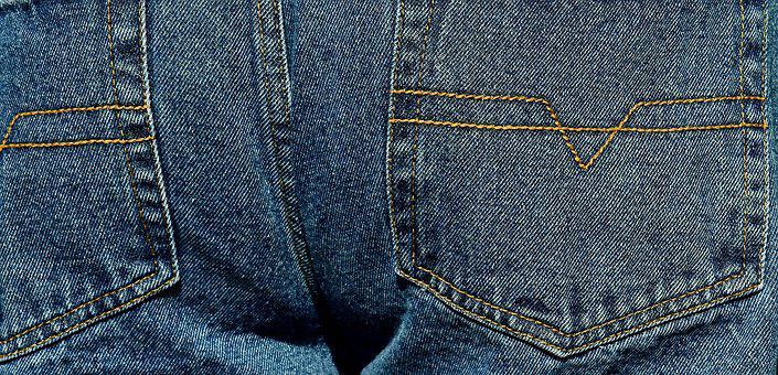 Jeans, Pants, Butt, Fabric, Clothing, Blue Jeans, Blue