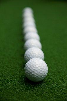 Golf, Golf Balls, Sport, Ball, Grass Golf Balls, Flow