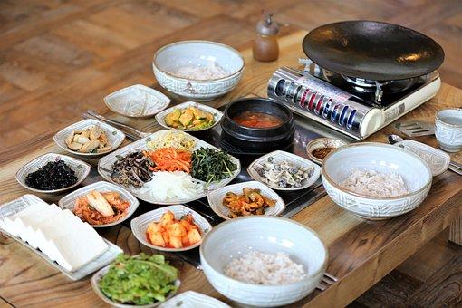 Tofu Grilled And Rice, Barley Rice, Korean Food
