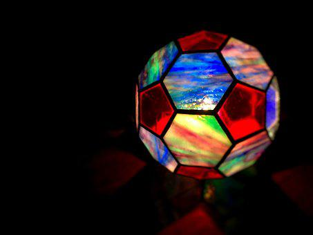 Stained Glass, Night, Light