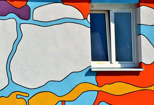 Wall, Color, Art, Painted Wall, House Facade, Plaster