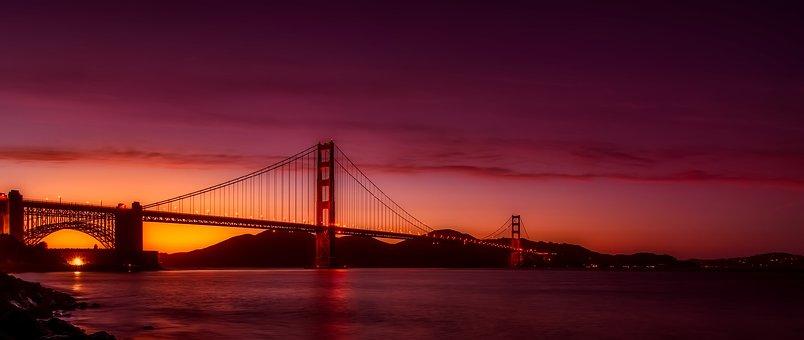 Golden Gate Bridge, Panorama, Bay, Harbor