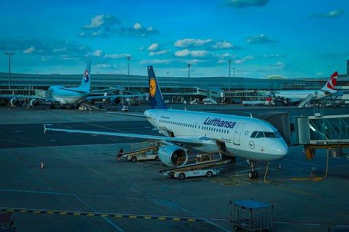 Aircraft, Airport, Holidays, Lufthansa, Prague
