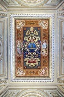 Italy, Rome, Vatican, Museum, Ceiling, Fresco