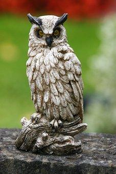 Owl, Sculpture, Art, Craft