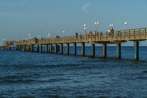 Sea Bridge, Binz, Rügen Island, Baltic Sea, Island, Sea