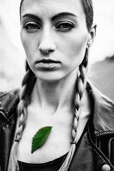Girl, Portrait, Sheet, Summer, View, Lips, Eyes, Person
