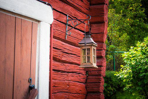Lantern, Door, Cottage, Summer, Traditional, Decoration