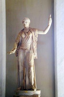 Italy, Rome, Vatican, Museum, Statue, Marble, Antique